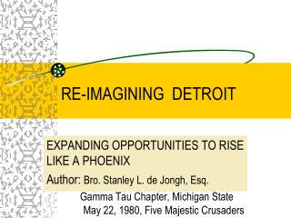 RE-IMAGINING  DETROIT