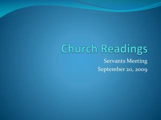 Church Readings