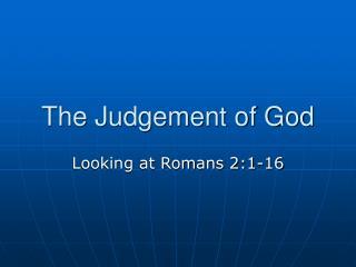 The Judgement of God