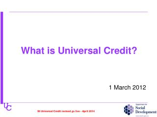 What is Universal Credit?