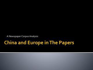 A Newspaper Corpus Analysis