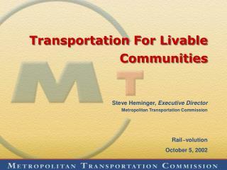 Transportation For Livable Communities