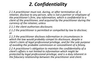 2. Confidentiality