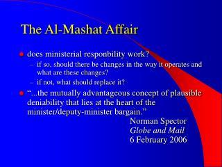The Al-Mashat Affair