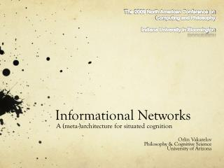 Informational Networks
