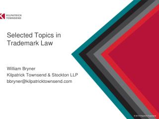Selected Topics in Trademark Law