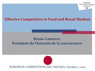Effective Competition in Food and Retail Markets