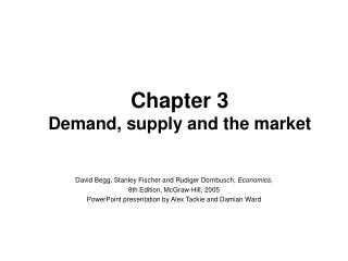 Chapter 3 Demand, supply and the market