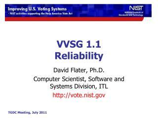 VVSG 1.1 Reliability