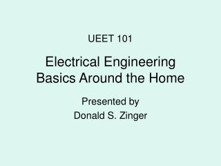Electrical Engineering Basics Around the Home