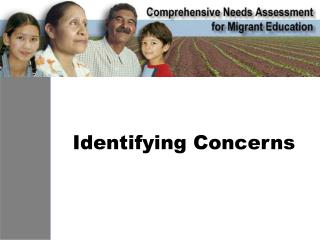 Identifying Concerns