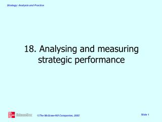 18. Analysing and measuring strategic performance