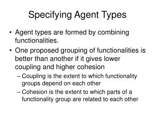 Specifying Agent Types