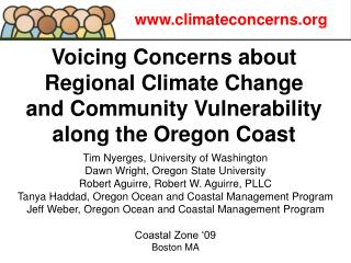 Voicing Concerns about Regional Climate Change  and Community Vulnerability along the Oregon Coast