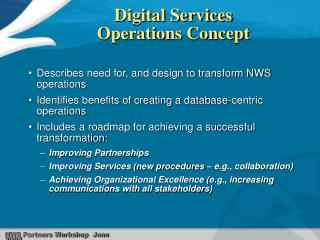 Digital Services  Operations Concept