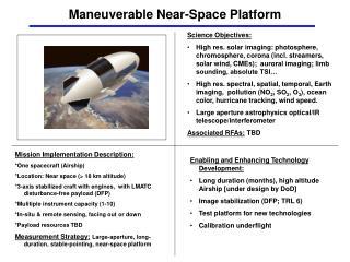Maneuverable Near-Space Platform