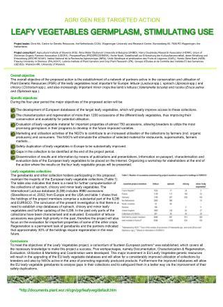 *http://documents.plant.wur.nl/cgn/pgr/leafyveg/default.htm