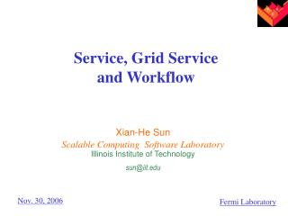 Service, Grid Service  and Workflow
