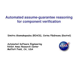 Automated assume-guarantee reasoning  for component verification