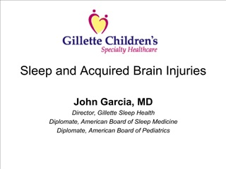 Sleep and Acquired Brain Injuries