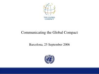 Communicating the Global Compact