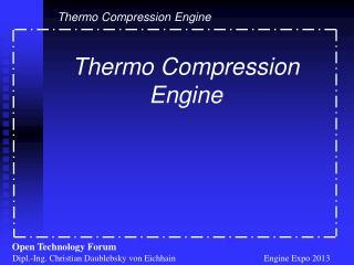 Dipl.-Ing. Christian Daublebsky von Eichhain                                        Engine Expo 2013