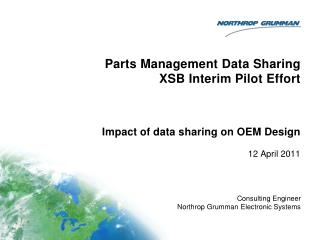Parts Management Data Sharing XSB Interim Pilot Effort
