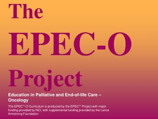 The  EPEC-O  Project