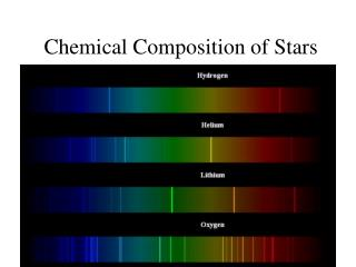 Chemical Composition of Stars