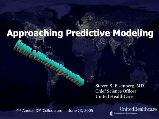 Approaching Predictive Modeling