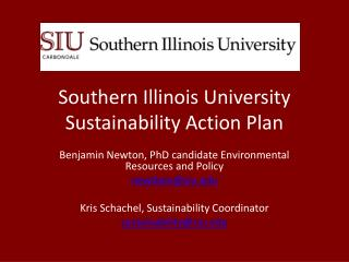 Southern Illinois University Sustainability Action Plan