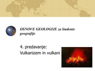 OSNOVE GEOLOGIJE za študente geografije