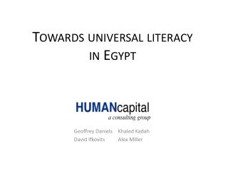 Towards universal literacy in Egypt