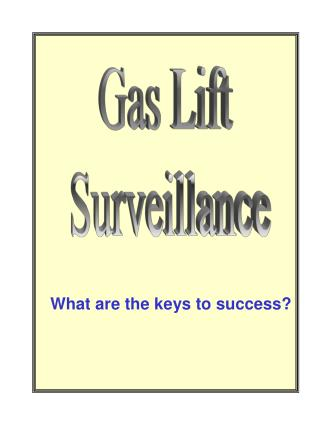 Gas Lift  Surveillance