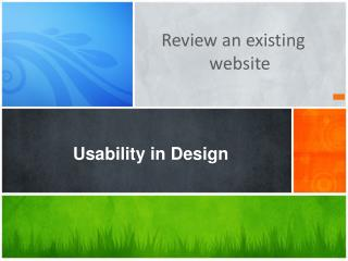Usability in Design