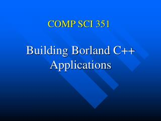 COMP SCI 351
