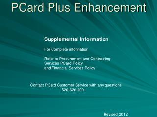 PCard Plus Enhancement