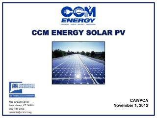 CCM ENERGY SOLAR PV