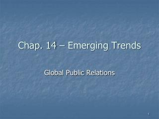 Chap.  14  –  Emerging Trends