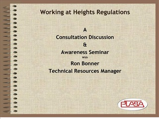 Working at Heights Regulations