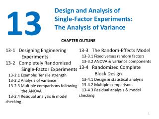 Design and Analysis of  Single-Factor Experiments: The Analysis of Variance