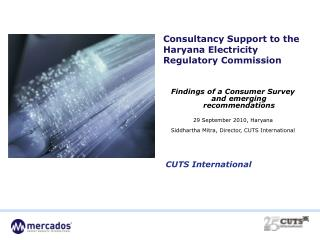 Consultancy Support to the Haryana Electricity Regulatory Commission