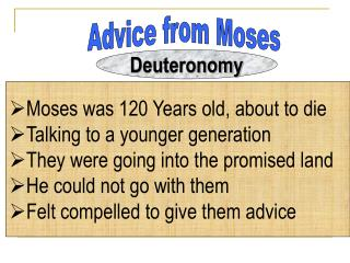 Advice from Moses