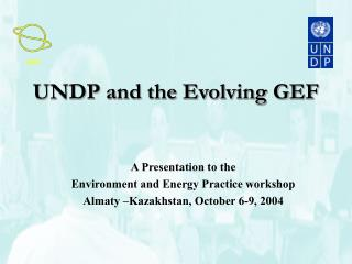UNDP and the Evolving GEF