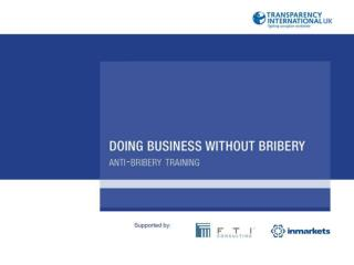 DOING BUSINESS  WITHOUT BRIBERY