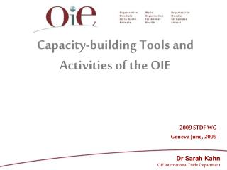 Capacity-building Tools and Activities of the OIE
