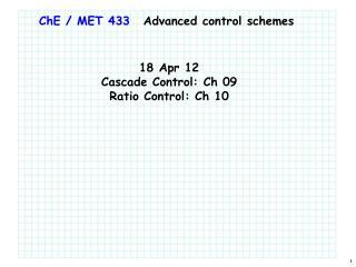 ChE  / MET 433