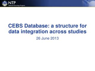 CEBS Database: a structure for data integration across studies
