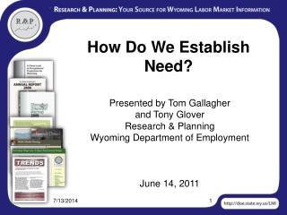 How Do We Establish Need?