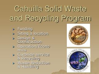 Cahuilla Solid Waste and Recycling Program